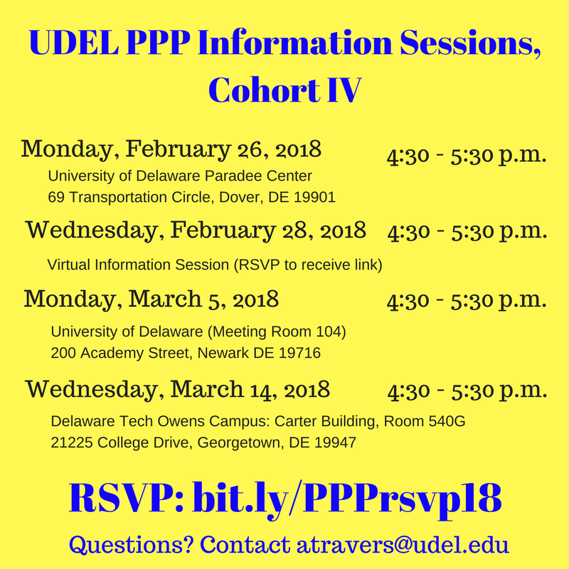 UDEL PPP Information Sessions Cohort IV