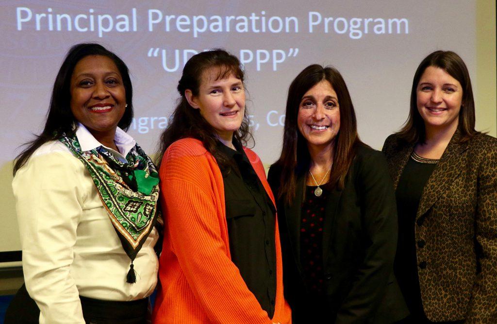 Four graduates of the Principal Preparation Program